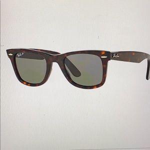ray ban wayfarer polarized sunglasses havana brown